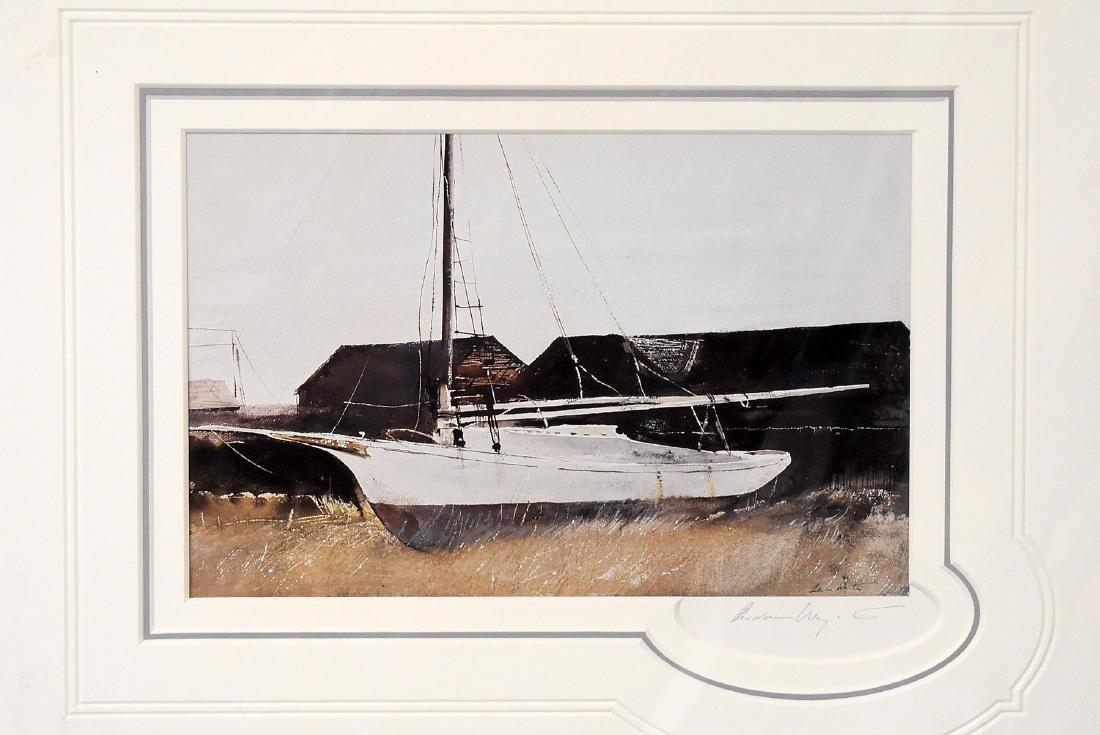Signed Andrew Wyeth Print, Friendship Sloop
