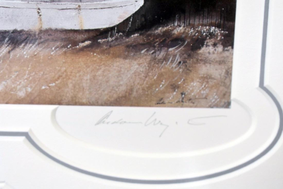 Signed Andrew Wyeth Print, Friendship Sloop - 2