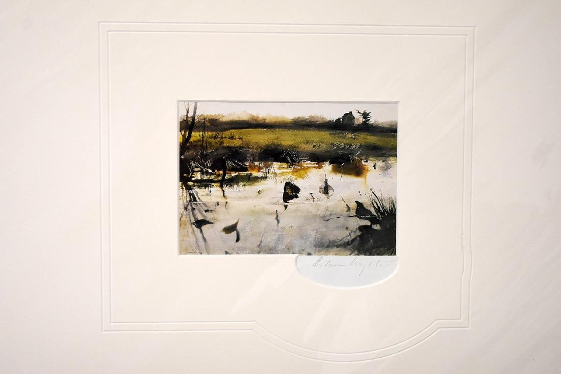 Signed Andrew Wyeth Print, Pioneer House