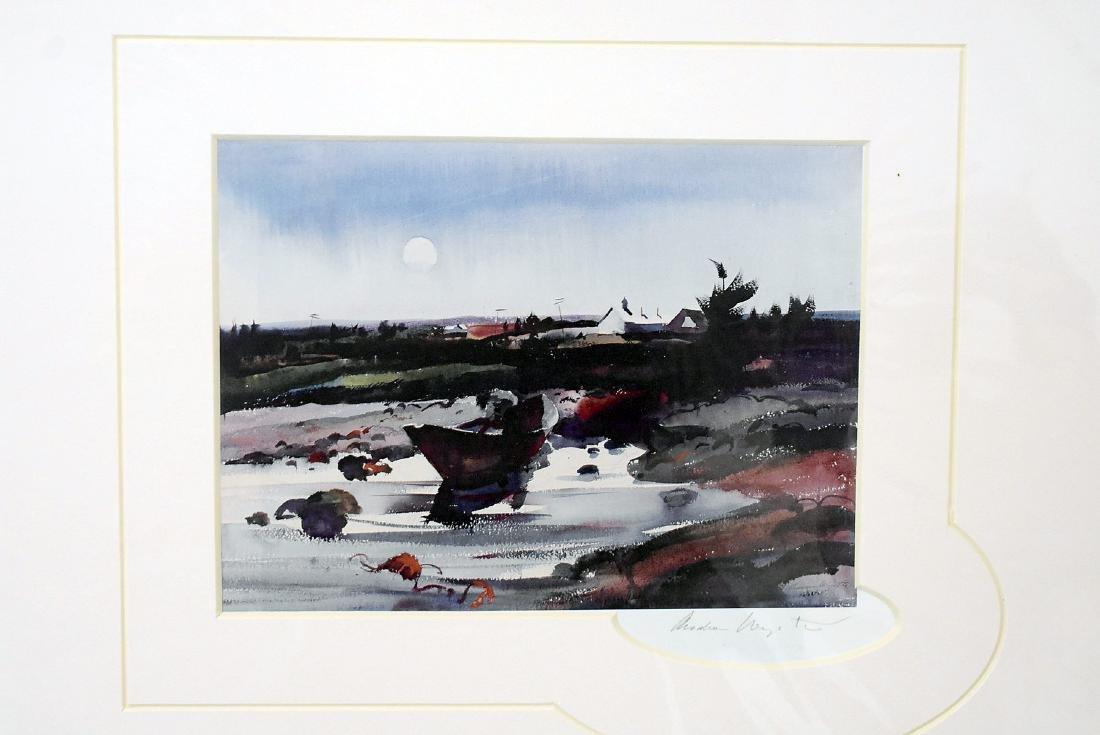 Signed Andrew Wyeth Print, Moonrise