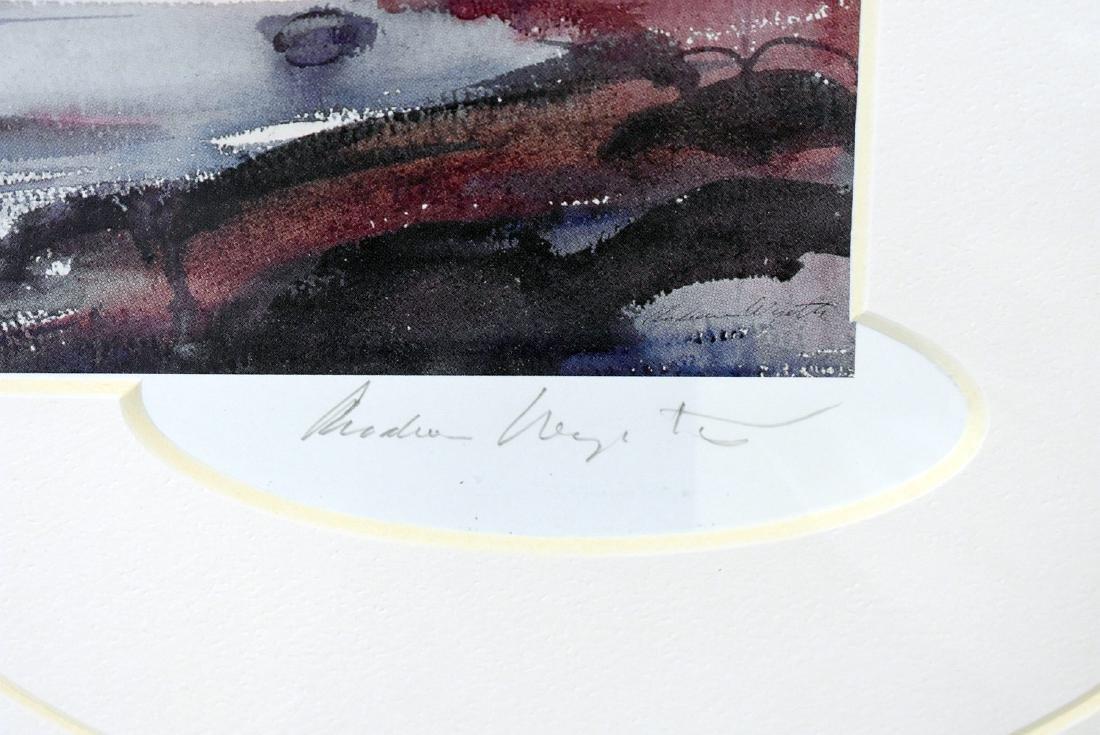 Signed Andrew Wyeth Print, Moonrise - 2