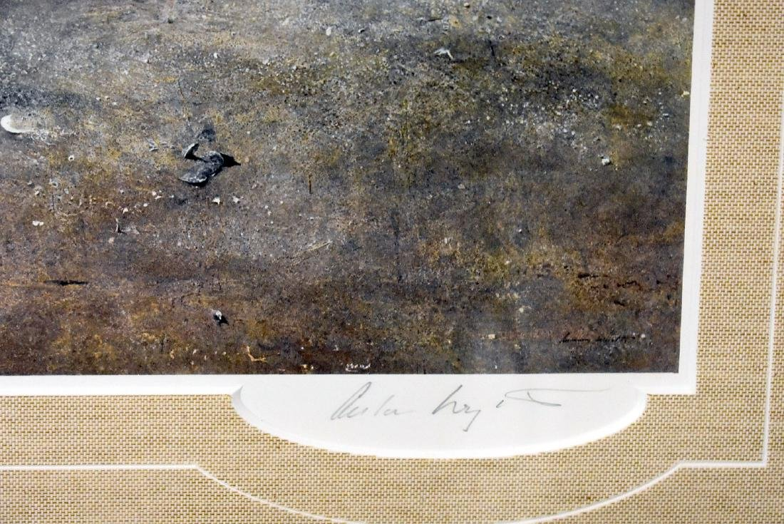 Signed Andrew Wyeth Print, Landscape with Figure - 2