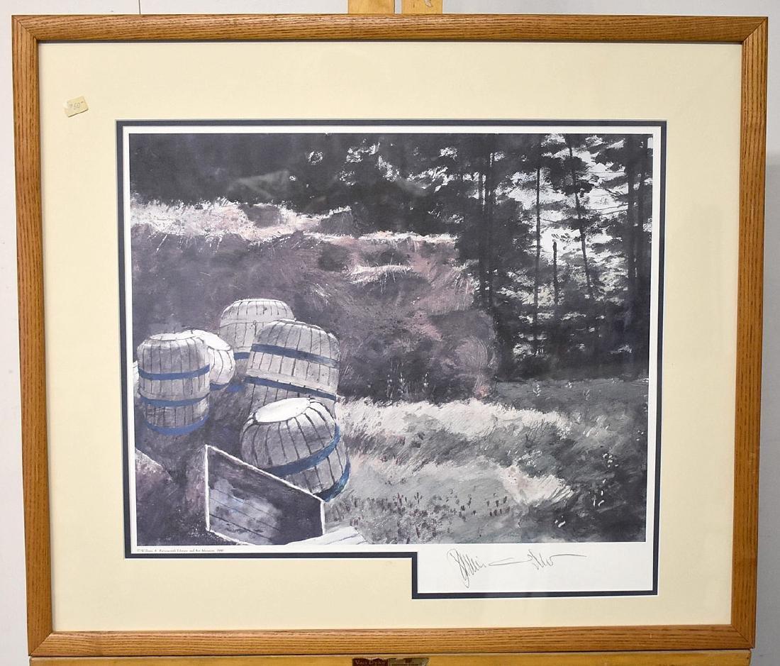Signed Jamie Wyeth Print, Blueberry Mulch