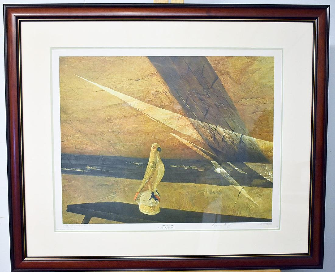 Signed Andrew Wyeth Print, The Cloister