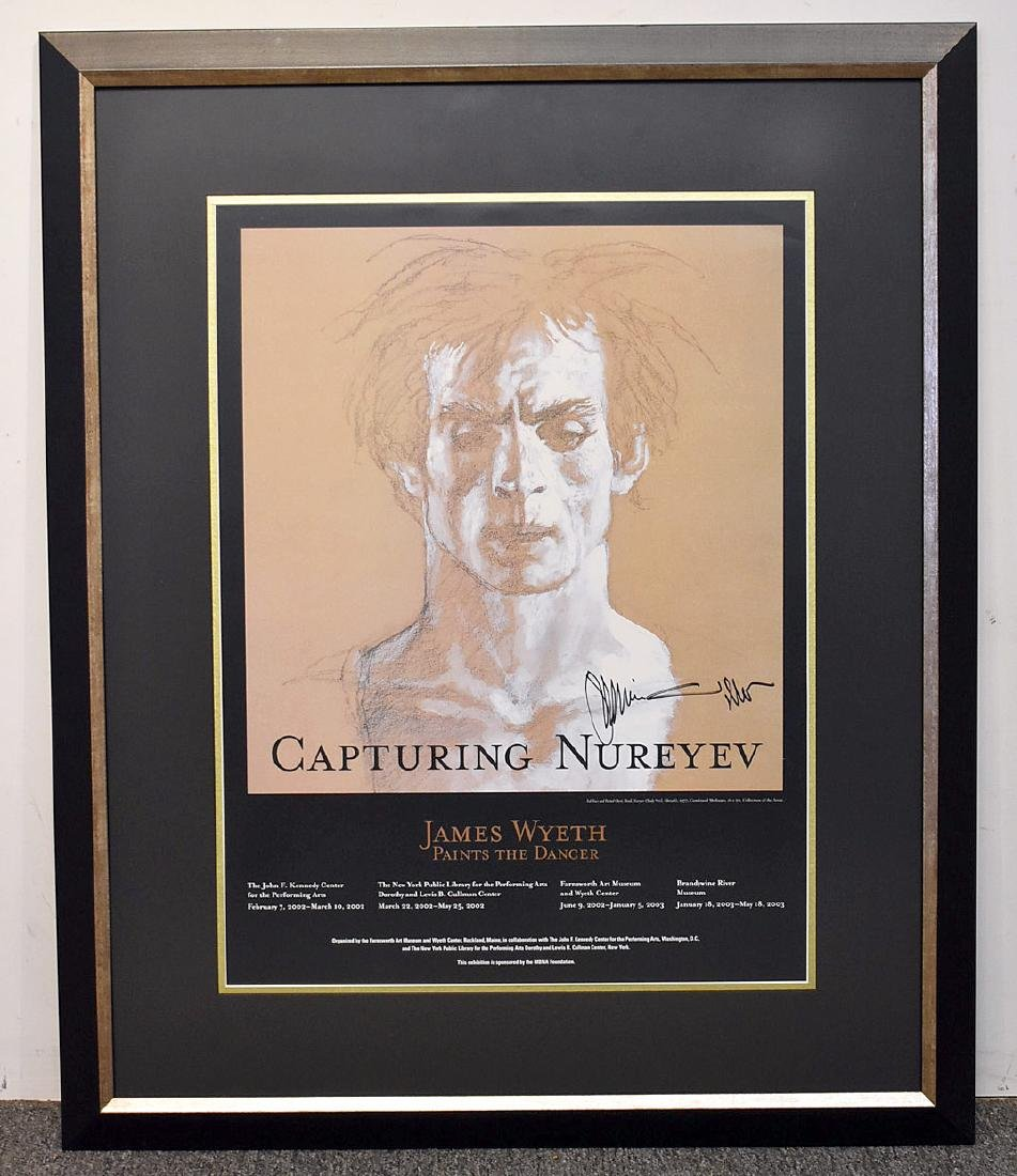 Signed Jamie Wyeth Exhibition Poster