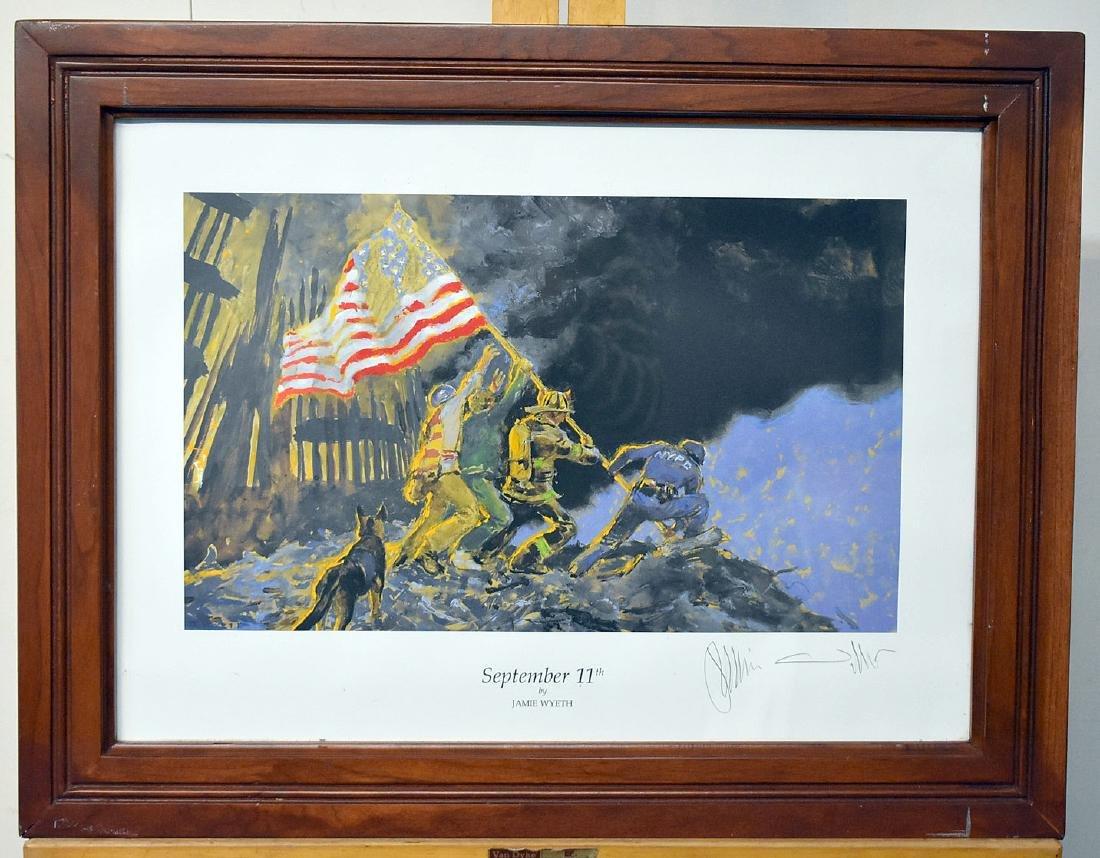 Signed Jamie Wyeth Print, September 11th