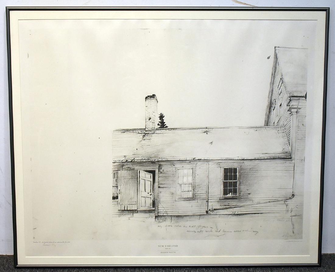 Signed Andrew Wyeth Print, New England