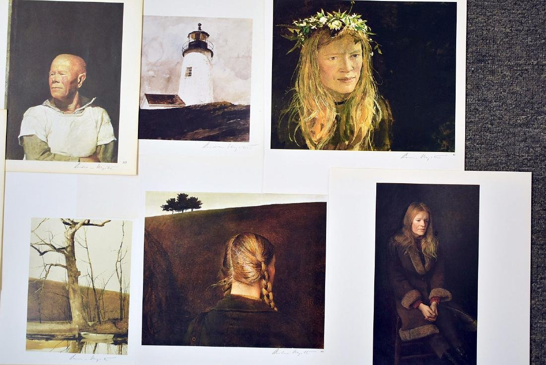 Ten Signed Andrew Wyeth Bookplate Prints - 2