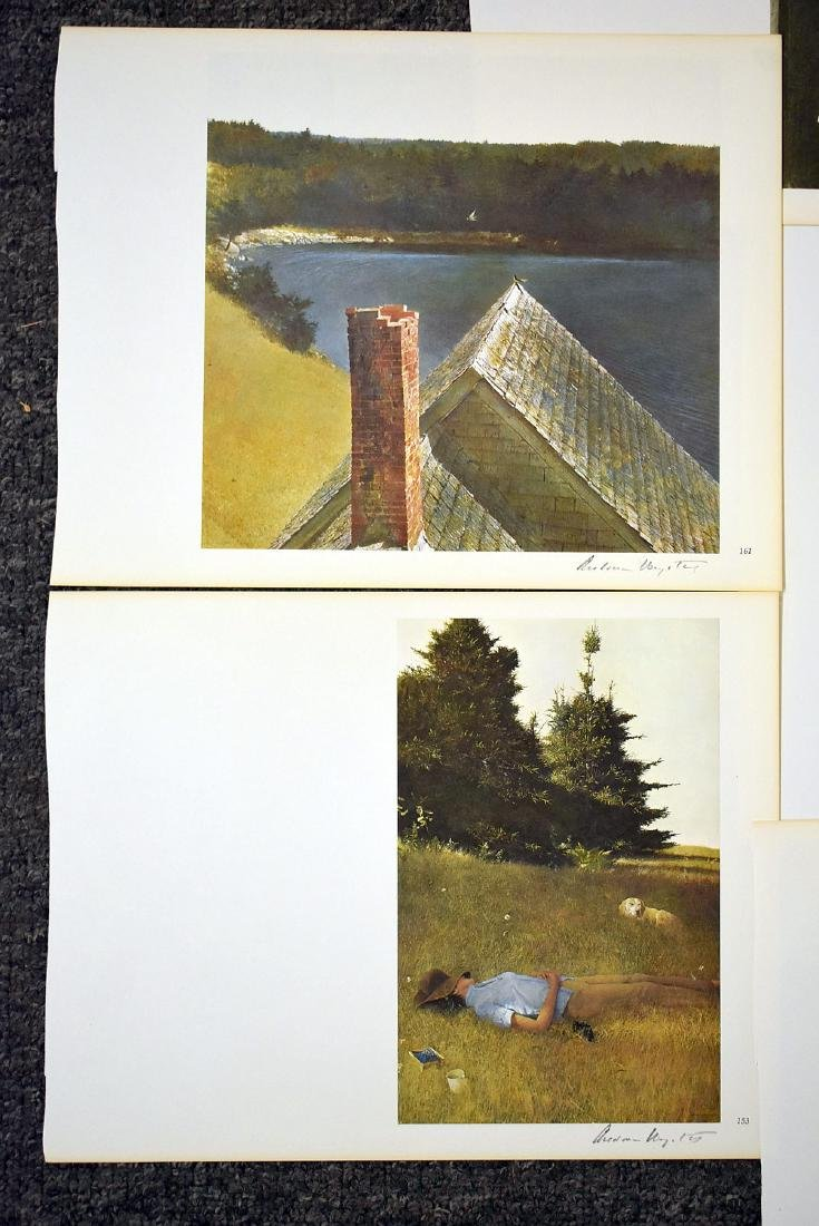 Ten Signed Andrew Wyeth Bookplate Prints - 4