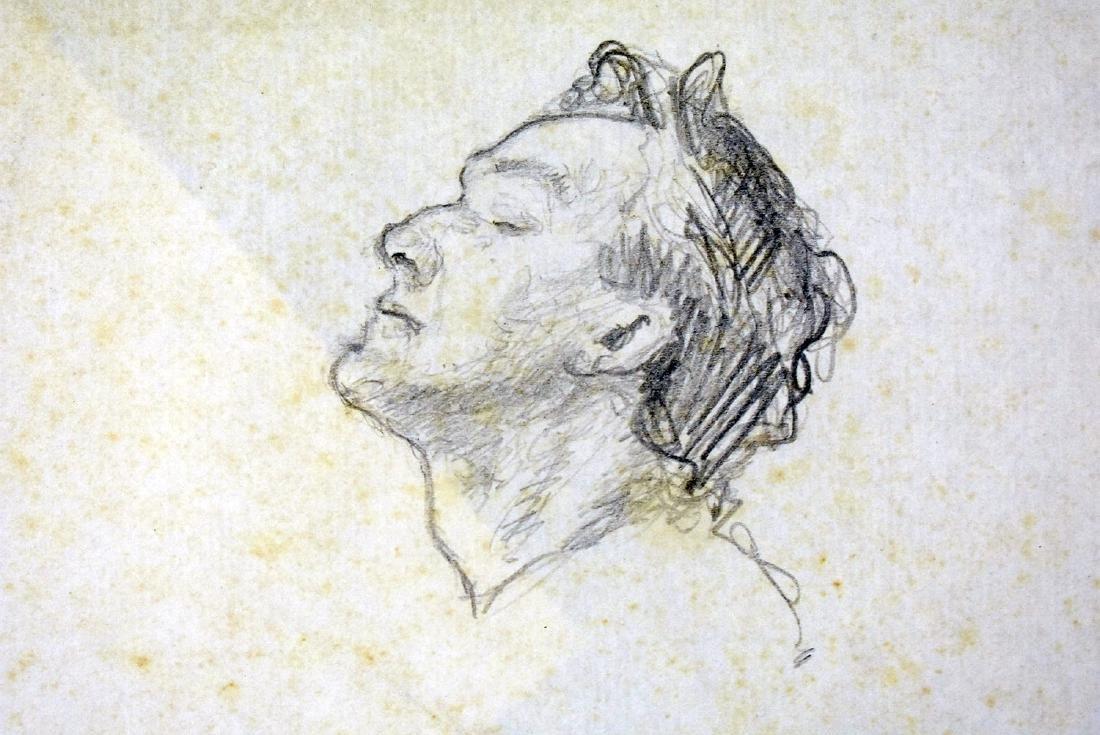 Attrib. Andrew Wyeth. Pencil Sketch, Portrait - 2