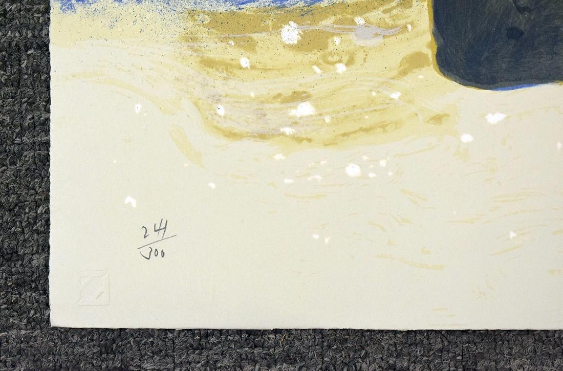 Signed Jamie Wyeth Print, Winter Chimney - 3