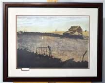 Signed James Lynch Lithograph, Landscape
