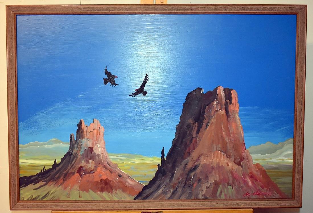 Joe Walker. Oil on Panel, Southwestern Landscape