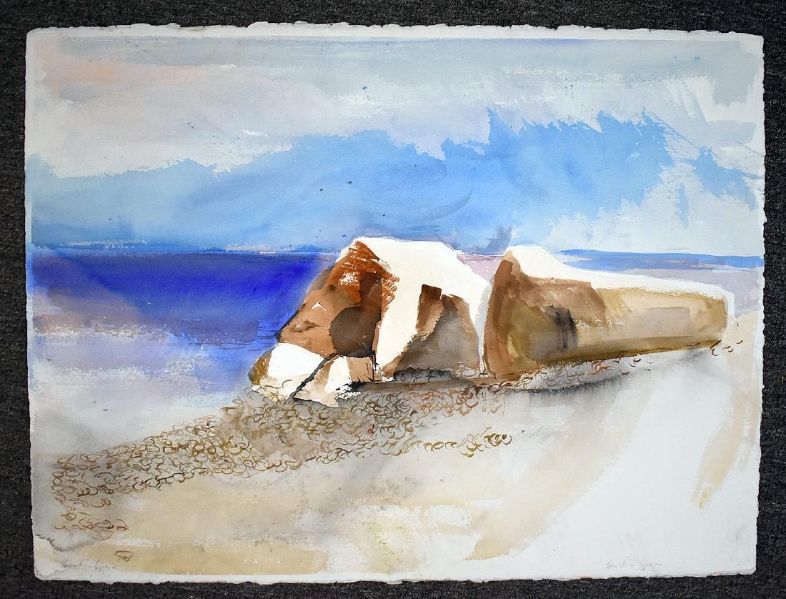 Four Sebastian Upson Watercolor Paintings - 3