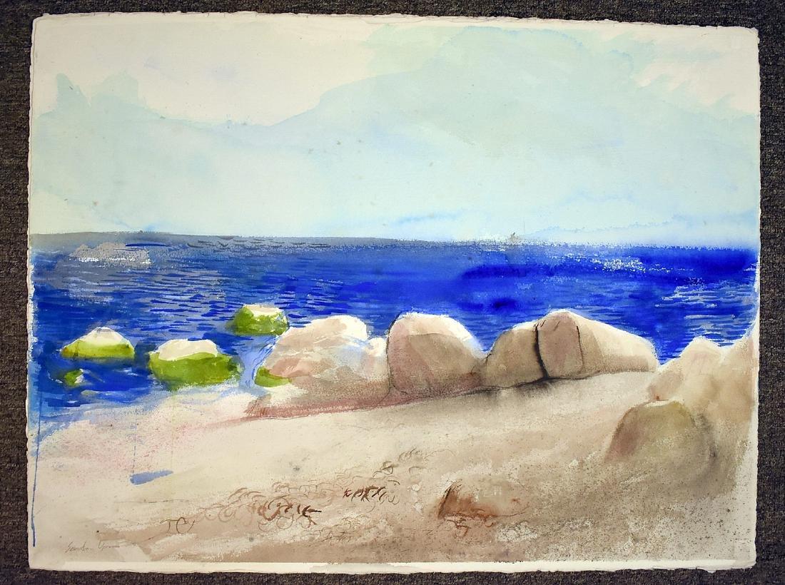 Four Sebastian Upson Watercolor Paintings - 2