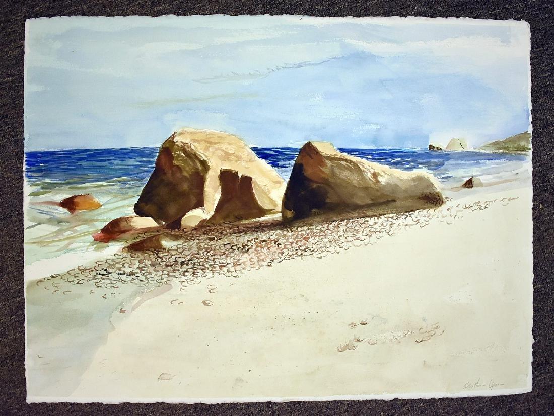 Four Sebastian Upson Watercolor Paintings - 4