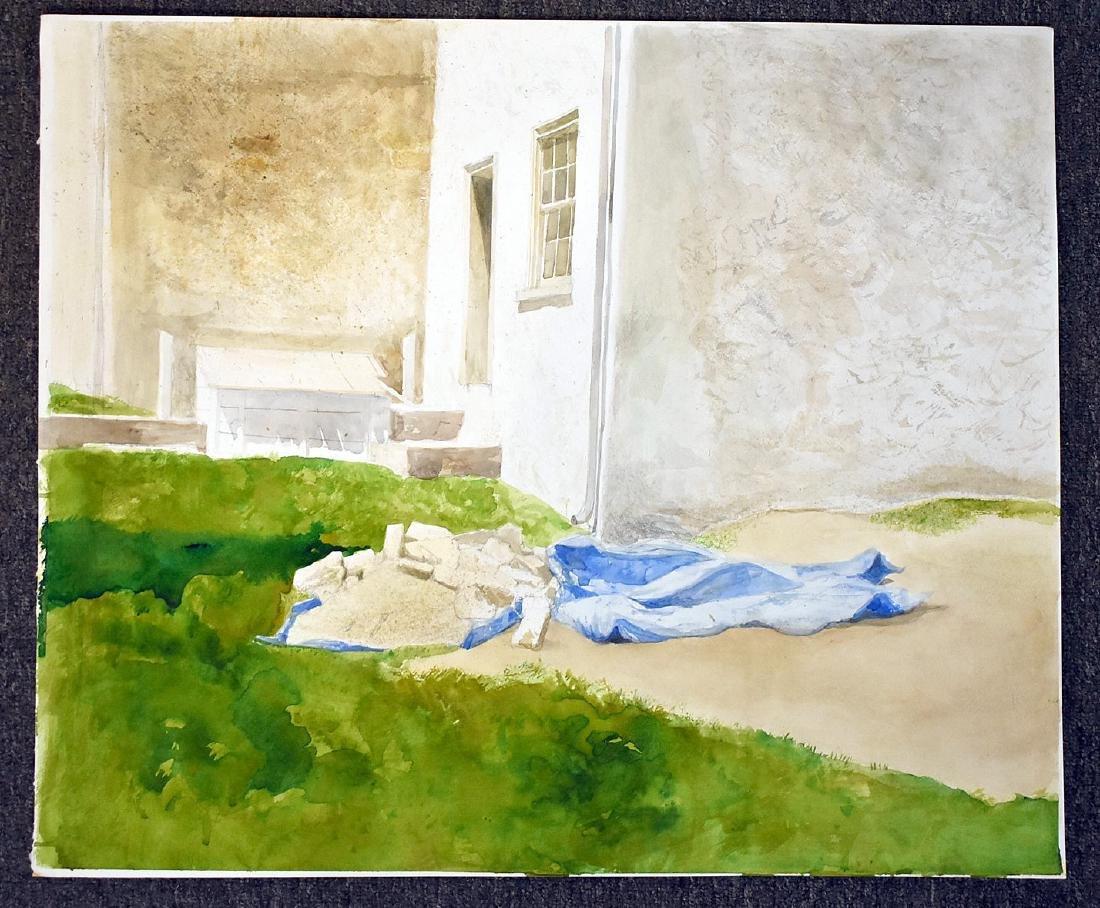 Four Sebastian Upson Watercolor Paintings