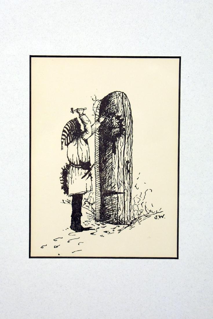 Signed Jamie Wyeth Printed Christmas Card