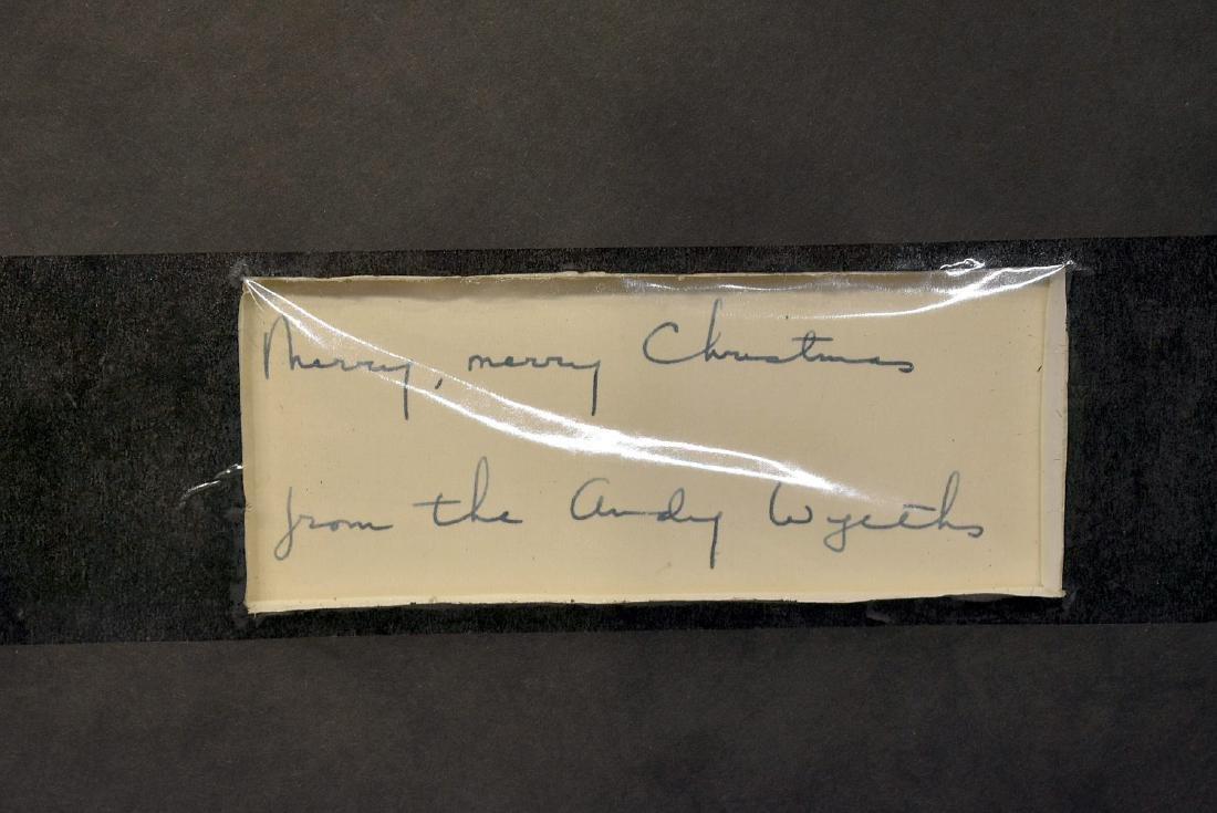 Signed Jamie Wyeth Printed Christmas Card - 3