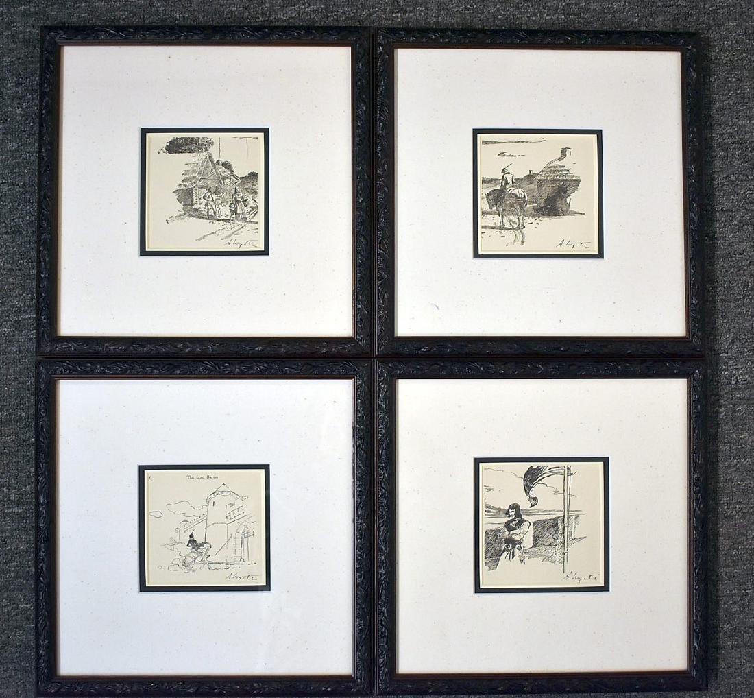 Four Andrew Wyeth Bookplate Prints