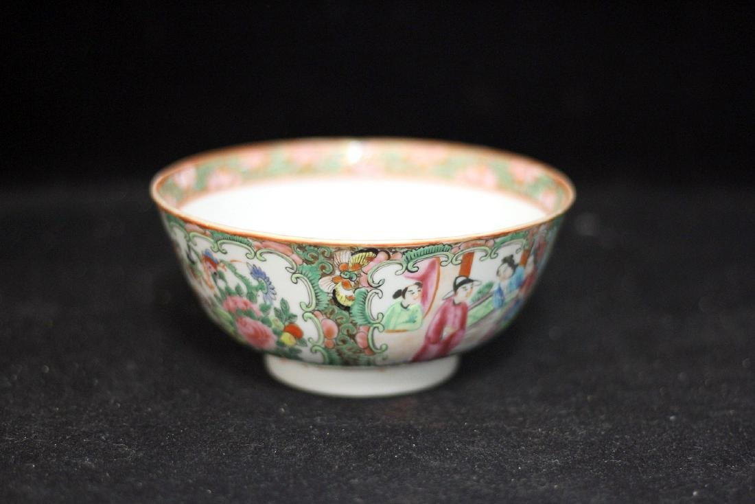 Chinese Export Rose Medallion Porcelain Bowl