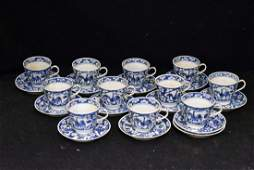 Eleven Chinese Porcelain Cups and Saucers