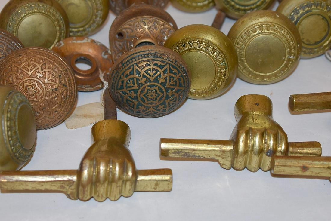 Grouping of Brass and Iron Door Hardware - 2