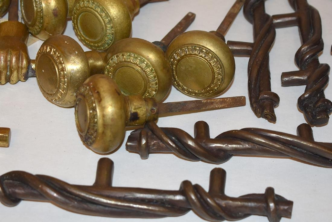 Grouping of Brass and Iron Door Hardware - 3