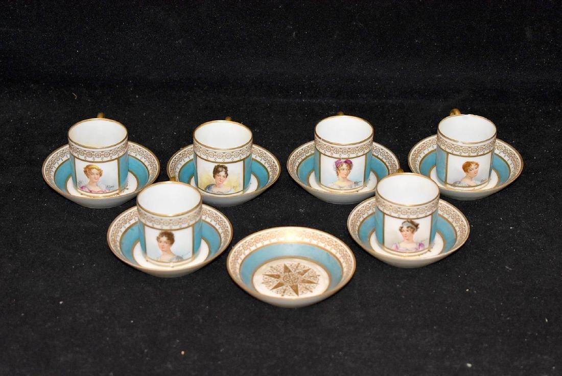 Sevres Porcelain Demitasse Set