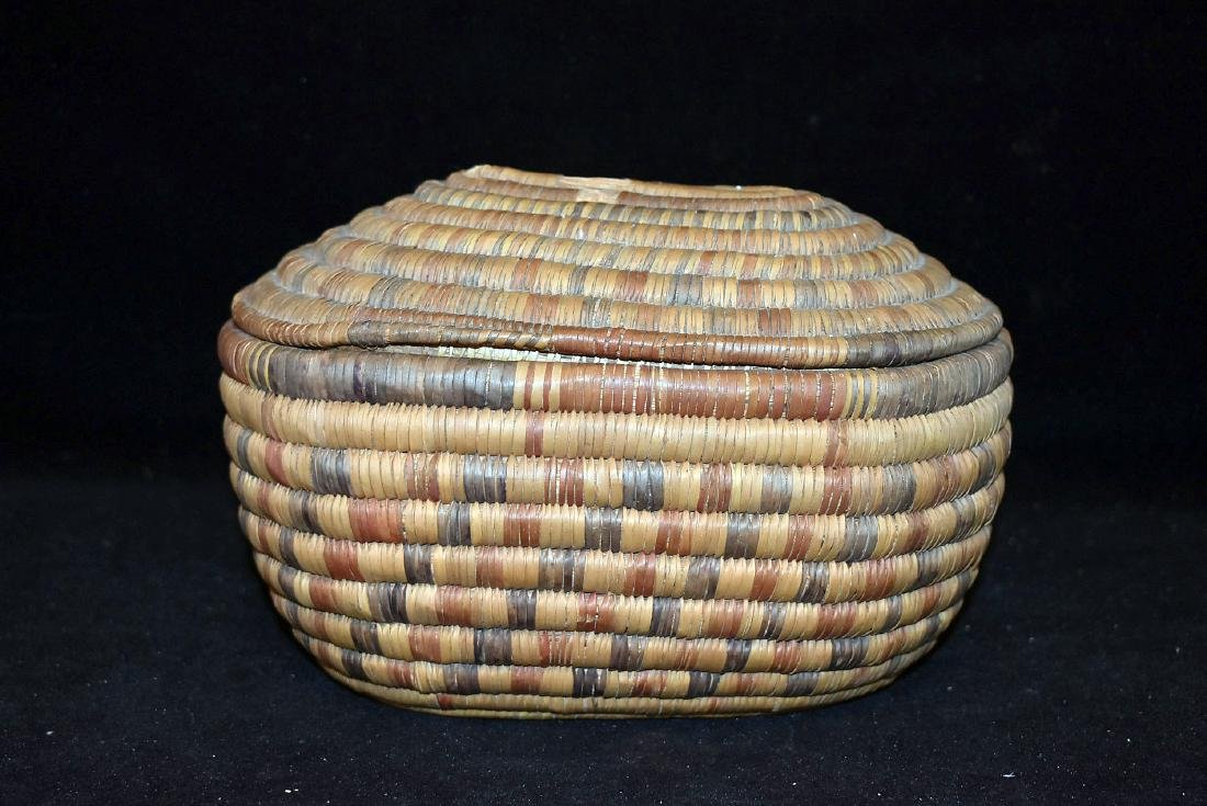 Native American Lidded Basket