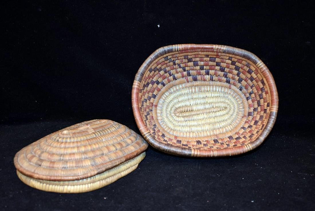 Native American Lidded Basket - 2
