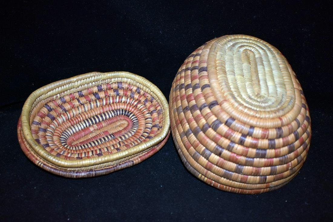 Native American Lidded Basket - 3