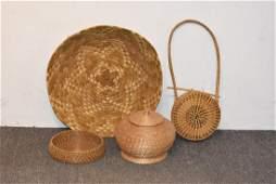 Four Woven Baskets