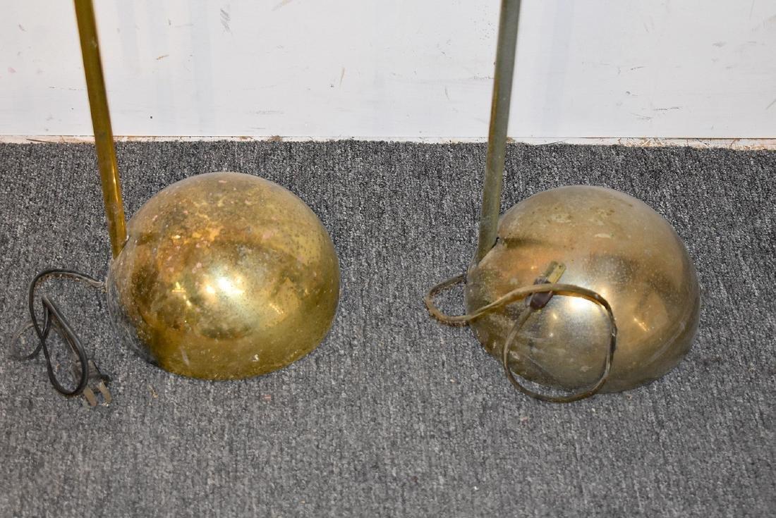 Pair of Brass Modernist Floor Lamps - 3