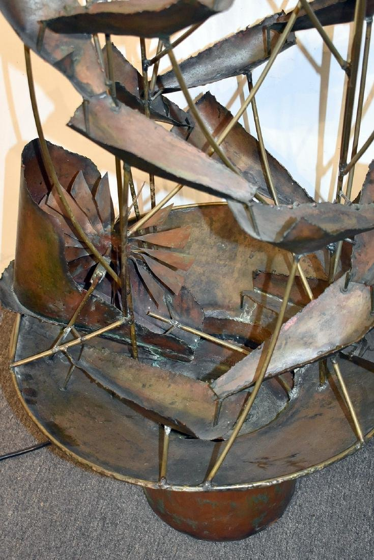 Brutalist Copper Fountain - 2