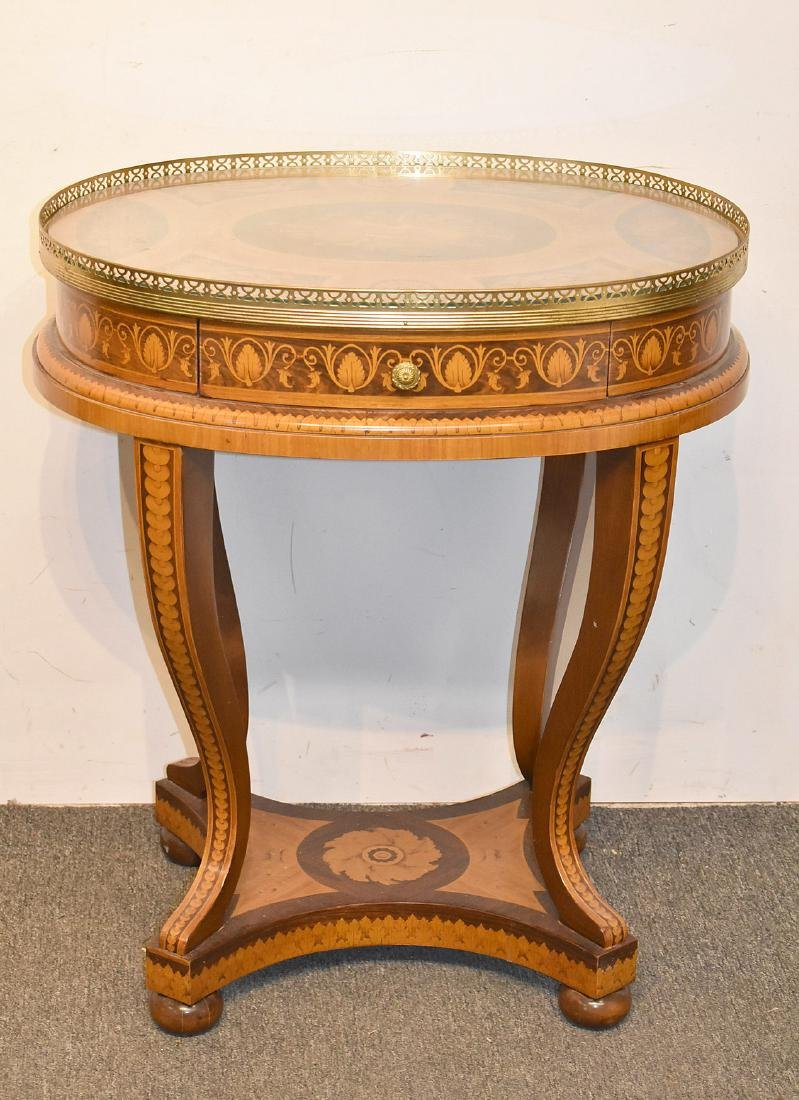 Italian Marquetry Inlaid Table