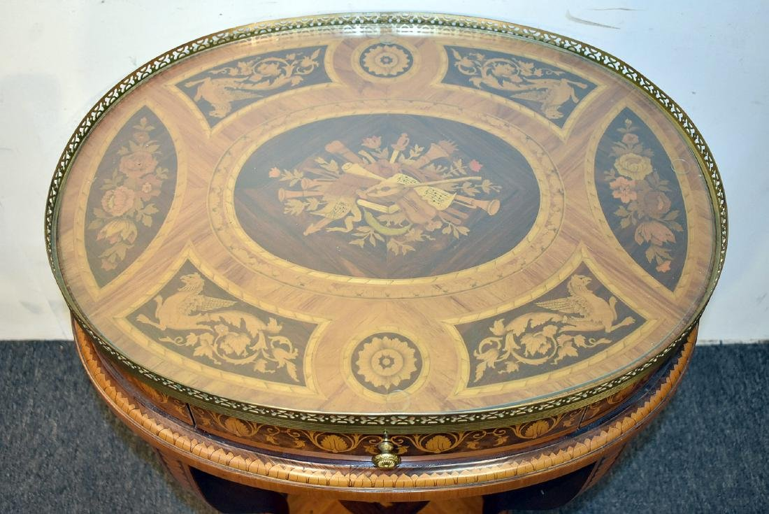 Italian Marquetry Inlaid Table - 2