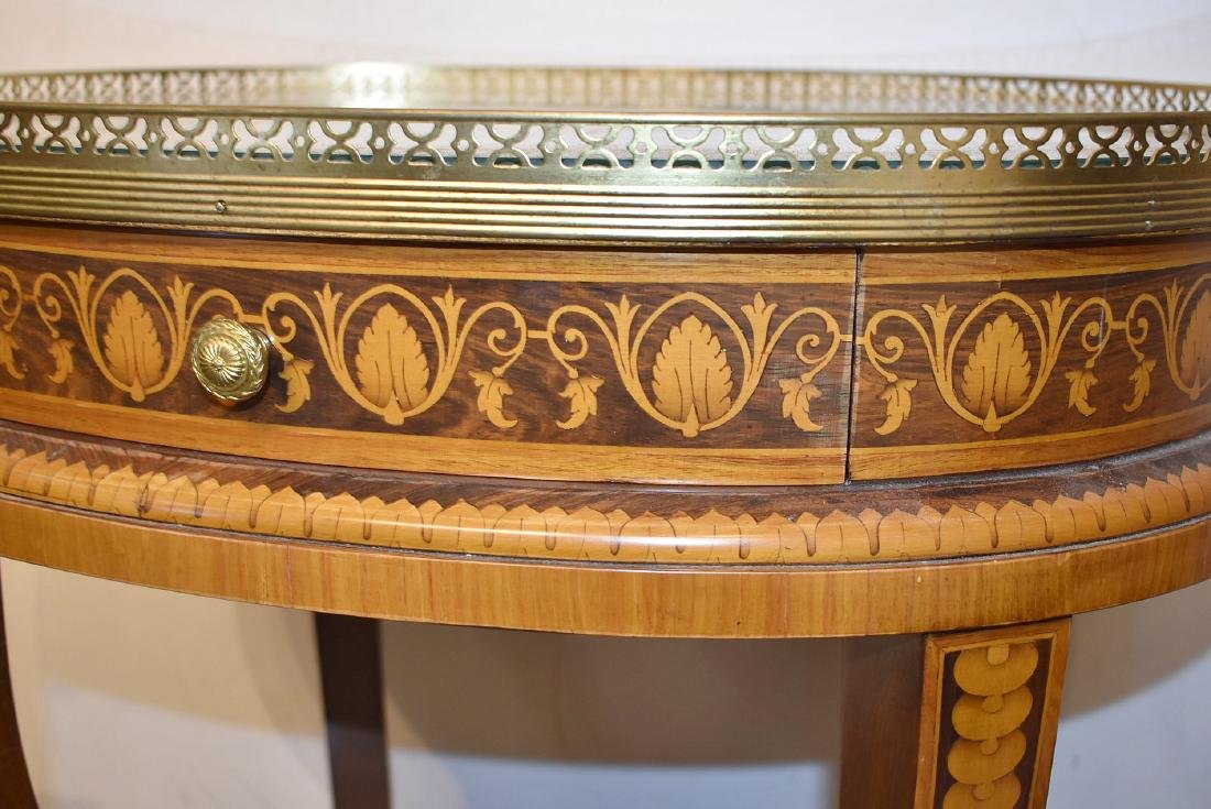 Italian Marquetry Inlaid Table - 3