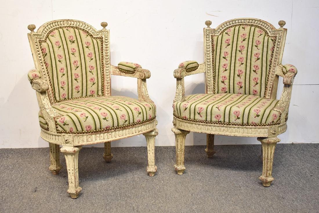 Pair of Louis XVI-Style Child's Bergeres