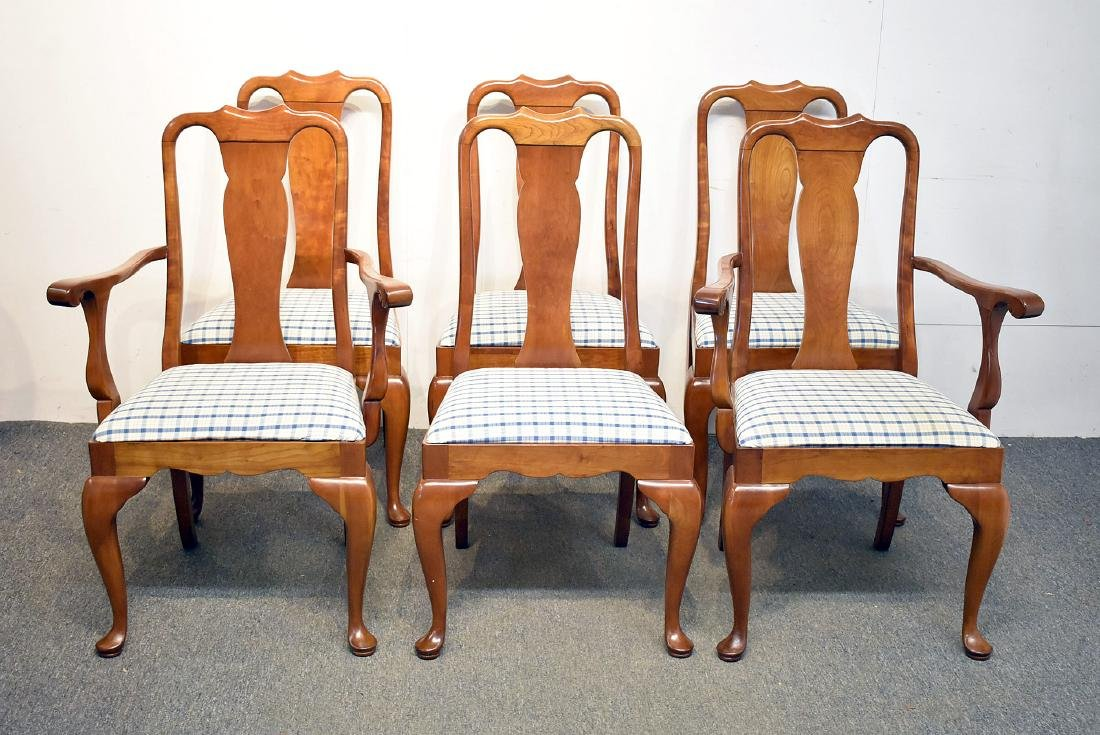 Six Stickley Cherry Dining Chairs