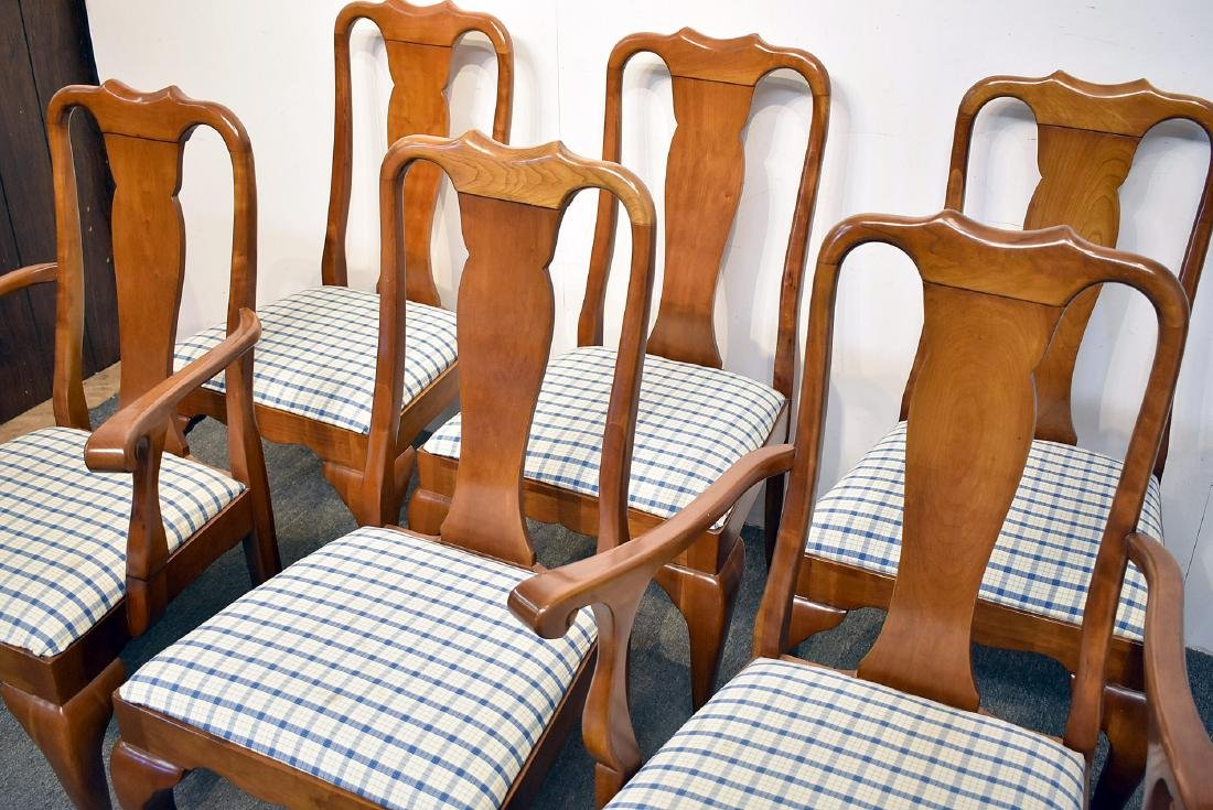 Six Stickley Cherry Dining Chairs - 2