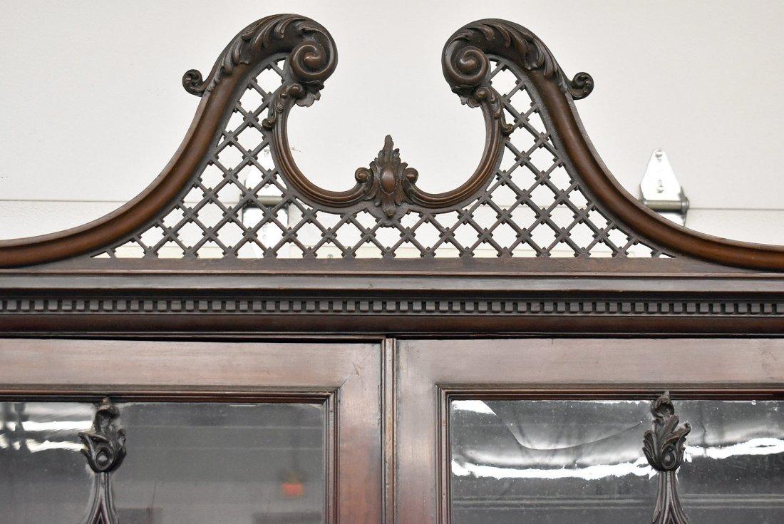 Georgian Mahogany Breakfront Bookcase - 2