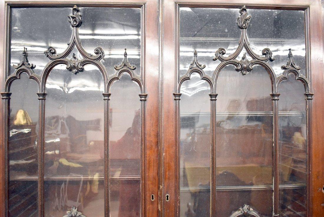Georgian Mahogany Breakfront Bookcase - 3