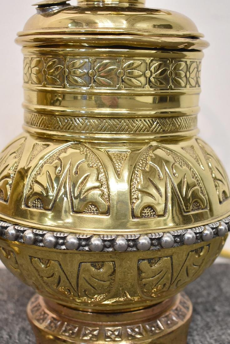 Two Brass Parlor Lamps - 3