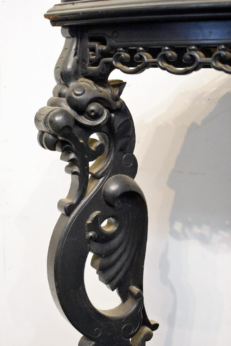 Ebonized Griffin Carved Corner Stand - 2