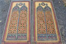 Pair of Architectural Paintings on Linen