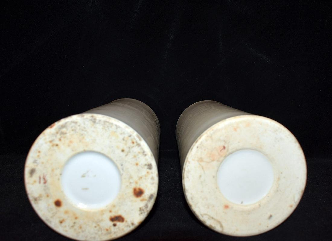 Pair of Chinese Porcelain Cylindrical Vases - 4