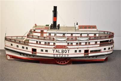 Large Folk Art Scale Model Sidewheeler
