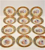 Twelve Royal Vienna Porcelain Plates
