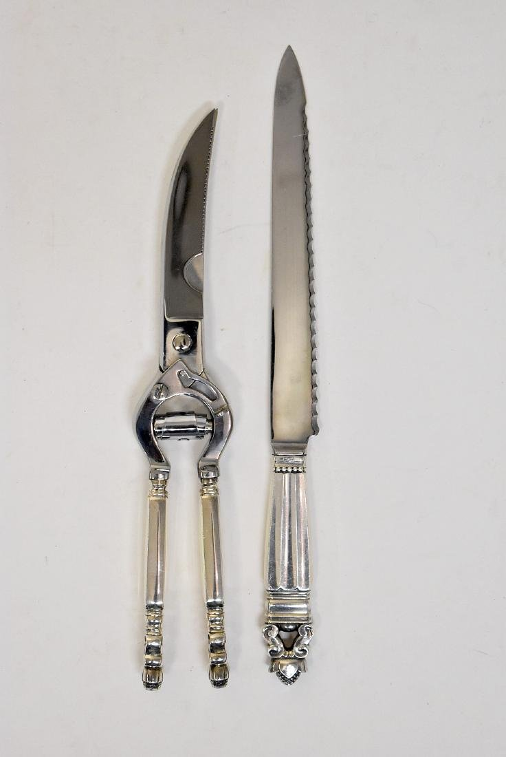 Georg Jensen Carving Knife and Shears
